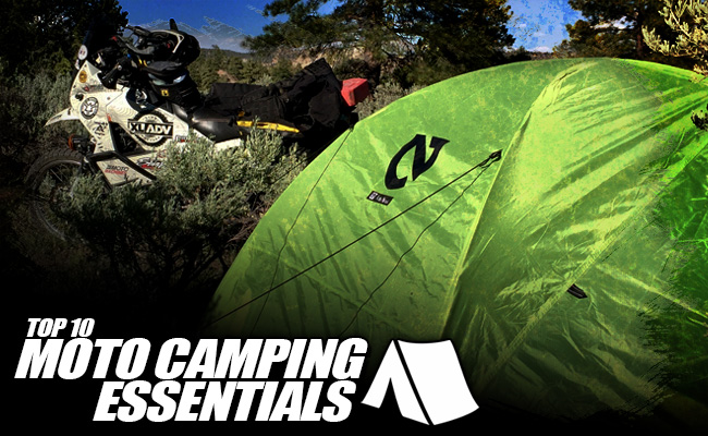 Top 10 Moto Camping Essentials