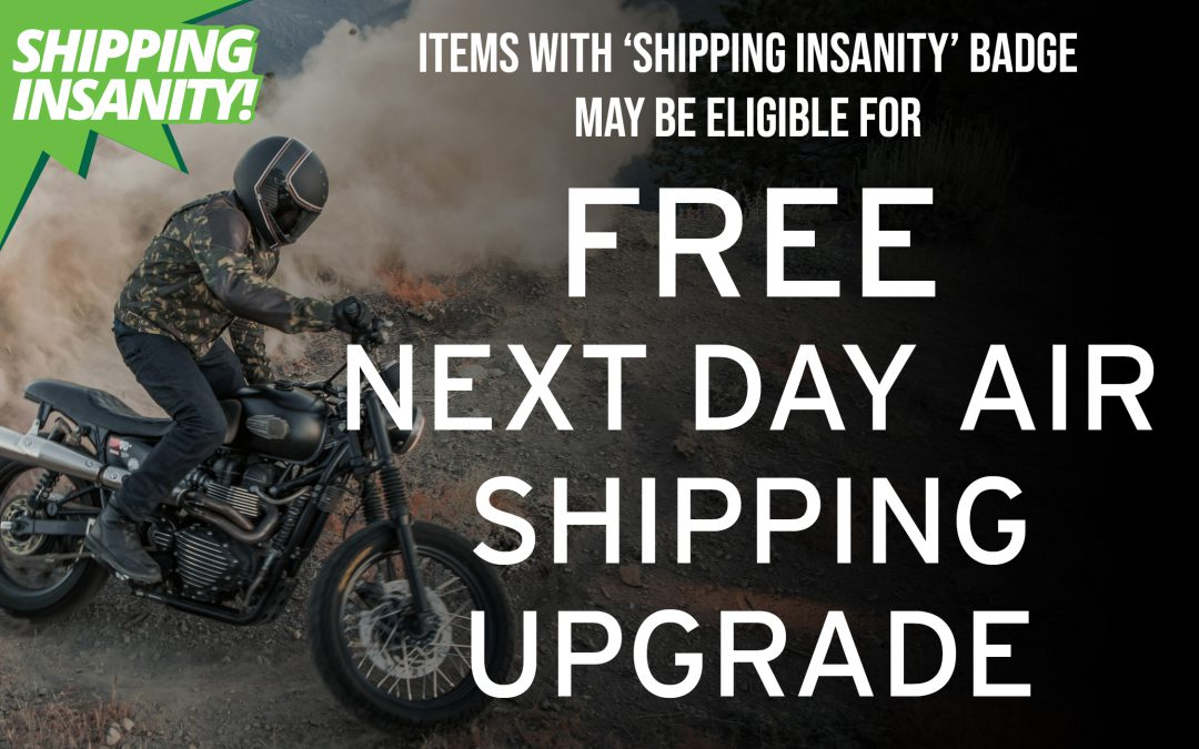 Shipping Insanity Offer – BikeBandit Motorcycle Parts & Gear