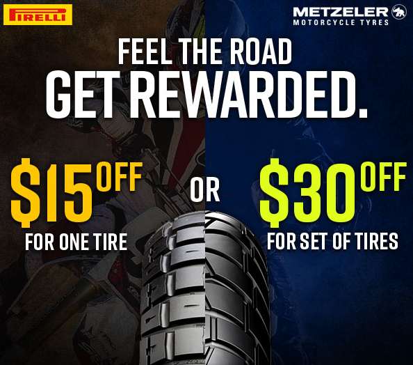 Pirelli & Metzeler Tire Rebates